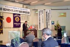 祝辞を述べる香川名誉顧問