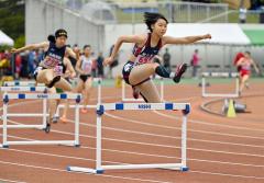 【女子400メートルハードル準決勝】横山彩音(帯農)