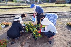 道の駅に花のプランター設置 陸別町商工会 3