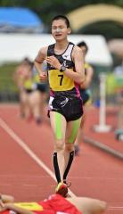 【男子5000メートル競歩】苦しい表情を浮かべながらも完歩した鈴木文也(広尾)