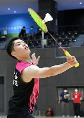 男子個人戦シングルス全道決勝を制した帯大谷の池田侑輝