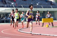 男子800メートル決勝 中村健吾(帯翔陽)
