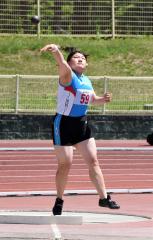 【女子砲丸投げ決勝】5投目に10メートル53をマークした泉谷京(清水)
