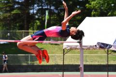 【男子走り高跳び決勝】坂本頼武(士幌中央)は大会タイ記録で、全国中体連参加標準にも相当する1メートル85をクリアした