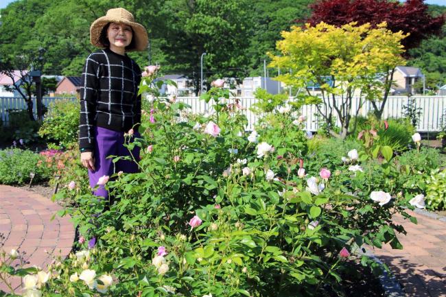佐久間さんが自宅庭を公開 新得