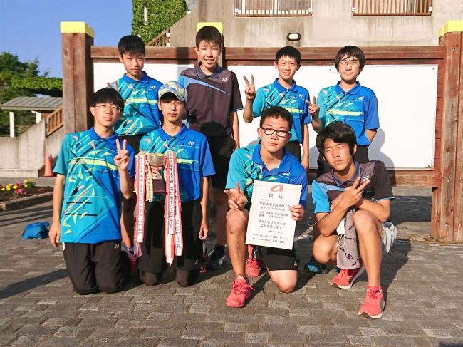 男子団体戦は帯八千代V、女子は帯南町 市中体連大会ソフトテニス