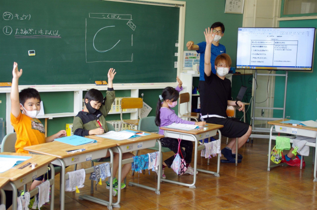 浦幌小3年生が野菜の活用を提案