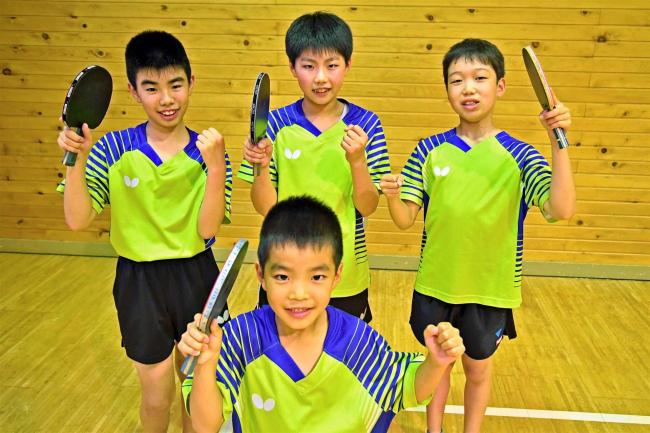 十勝勢大舞台へ 5選手2団体闘志 小学生卓球
