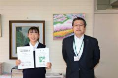健闘を誓う山田さん(左)と阿部次長(本別)