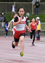女子5年400メートルリレー 十勝陸クA・山崎姫愛