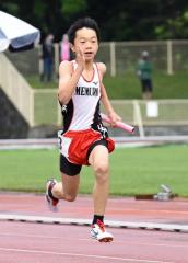 男子6年400メートルリレー 芽室陸少・藤村絆生