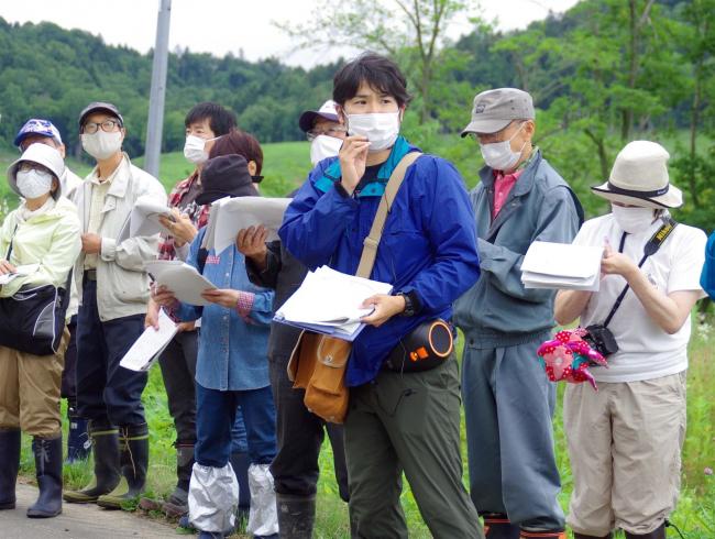 移動博物館で上浦幌の地形観察 浦幌