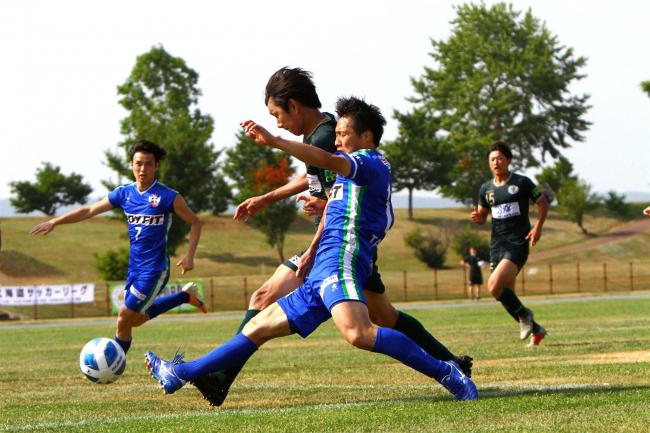 スカイアースと新得FCそろって勝利、道リーグサッカー第3節