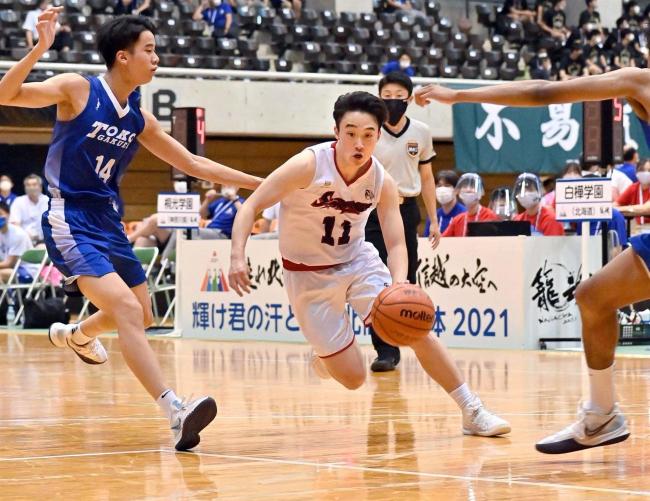 白樺学園男子初戦惜敗、74―86桐光学園に逆転負け インターハイバスケ