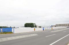 十勝農協連の新ビル建設予定地。完成は来年11月の予定