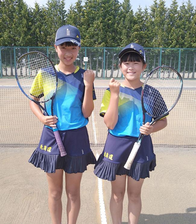 ソフトテニス芽室SSTJr.の吉田・斉藤組、十勝史上初の全日本小学生選手権出場