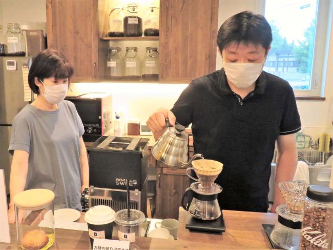 自家焙煎豆のコーヒー店オープン 中札内