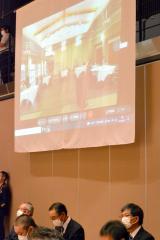 国際姉妹都市カナダのストニィプレイン町の関係者もオンラインで参加した