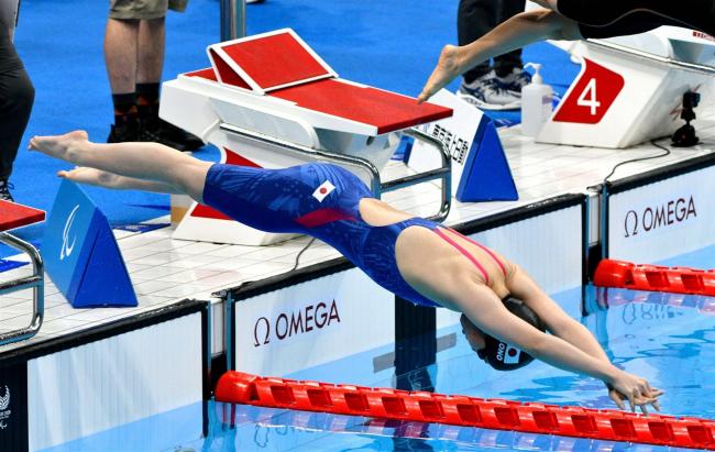 小野智華子女子100メートル自由形予選敗退、東京パラリンピック