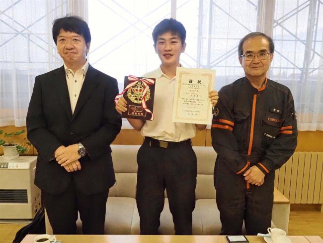 帯工業2年酒井さんが自動車整備で最優秀 高校生ものづくりコンテスト