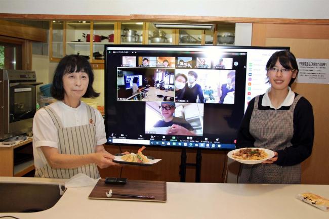 オンラインでカナダと交流 料理教室開かれる 鹿追