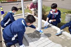 高校生の職場体験兼ね地域貢献活動 足寄・斉藤井出建設 3