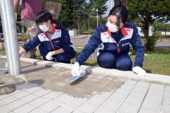 高校生の職場体験兼ね地域貢献活動 足寄・斉藤井出建設 4