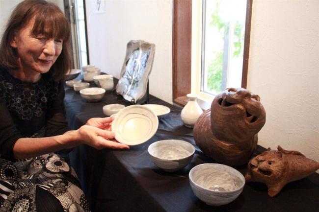 ギャラリー陶で陶芸家坂田雅義さん作品展 大樹
