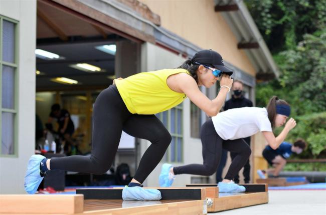 高木美帆「北京で勝ちにいく滑りを」 スピードスケートナショナルチーム練習公開