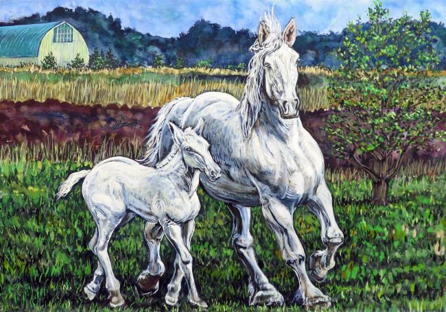 馬の絵作品展受賞者決まる 鹿追
