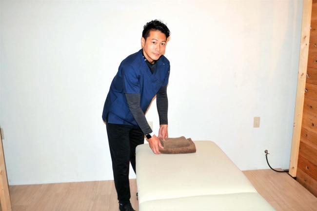 【写真】大阪から移住の倉嶋さんが整骨院開業へ 上士幌