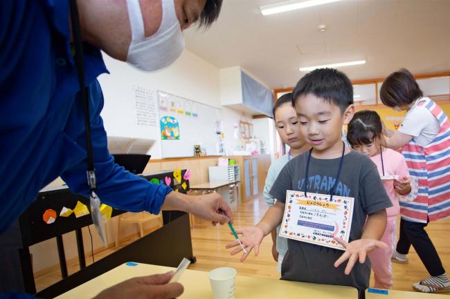 園児対象に手洗い教室 広尾