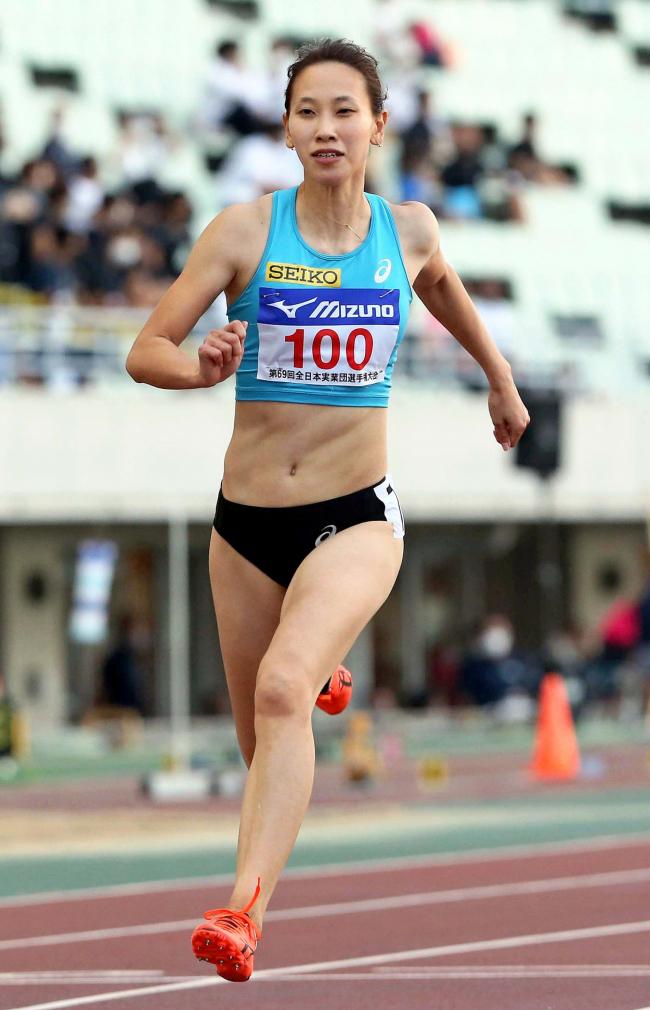 福島千里女子100メートルB決勝2位 寺井は女子円盤投げ9位 全日本実業団対抗陸上選手権大会