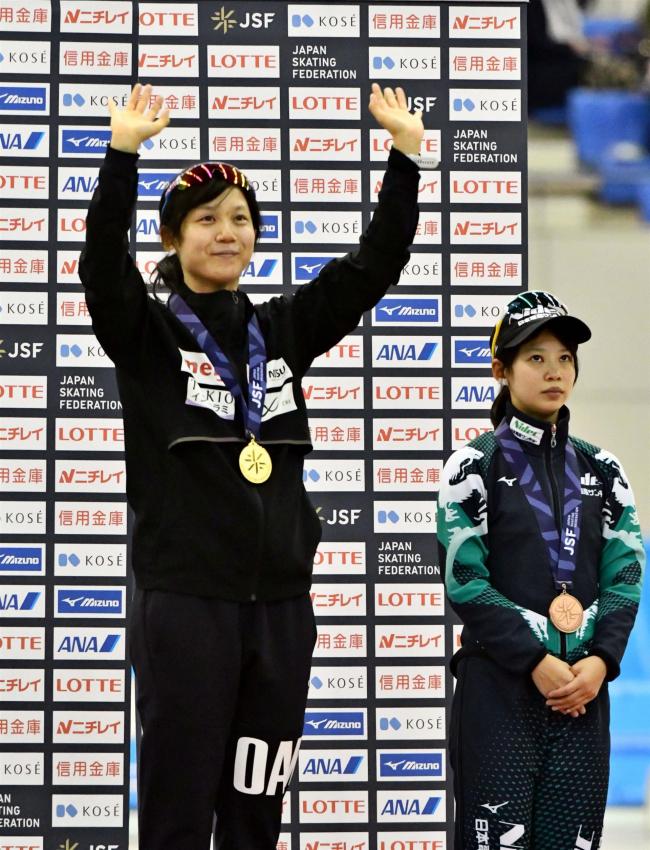 高木美帆貫禄の1500大会新6連覇 男子は山田将矢2位、弟和哉3位 女子5000は酒井V 全日本スケート