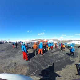 南極昭和基地のヘリポート