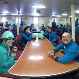 南極観測船しらせの観測隊公室