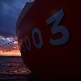 太陽が沈むフリーマントル港