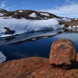 スカルブスネスでは湖沼が多く存在する(1月24日)