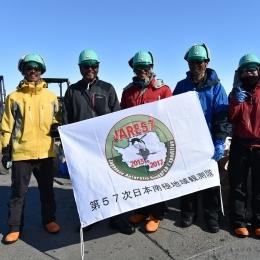 昭和基地に到着した内陸グループ