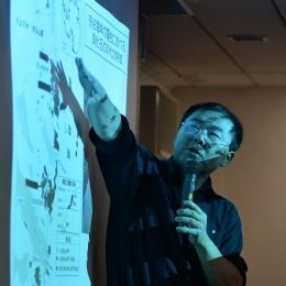 南極大学講座で講演する三浦越冬隊長