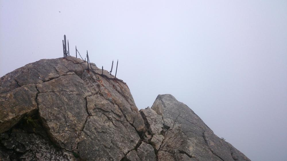 剣山。頂上