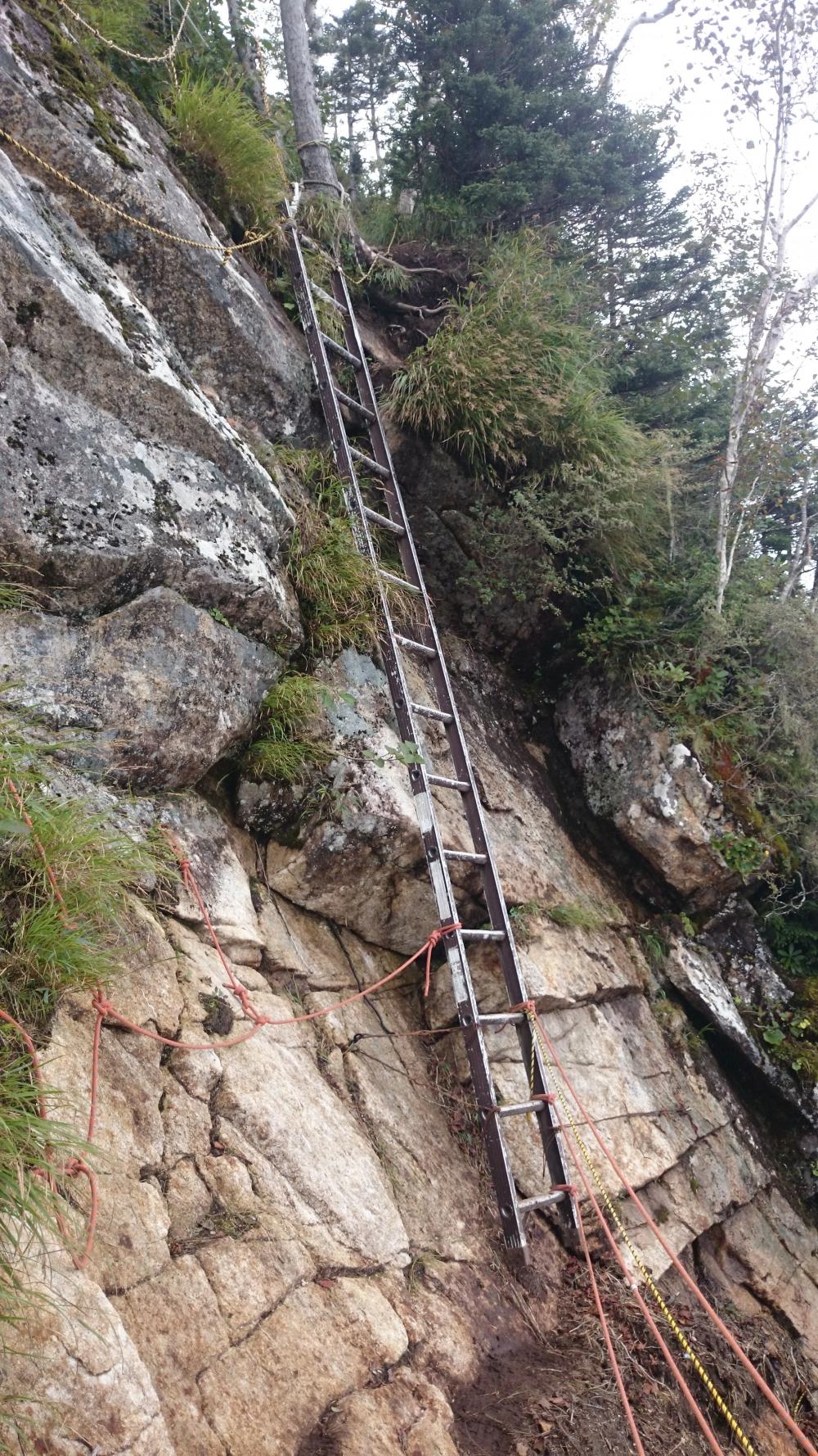 剣山。はしご