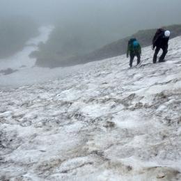 トムラウシ山。7月28日10時ごろ、標高1,550メートル付近